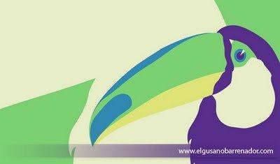 Dessin d'un toucan dans 2D dessin Tucan