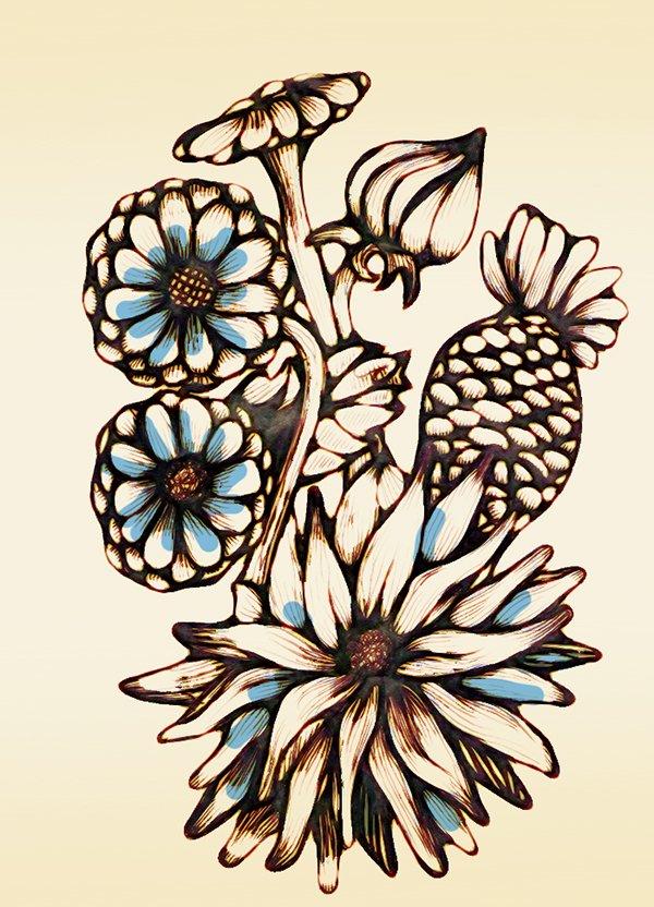 croquis pour le design textile