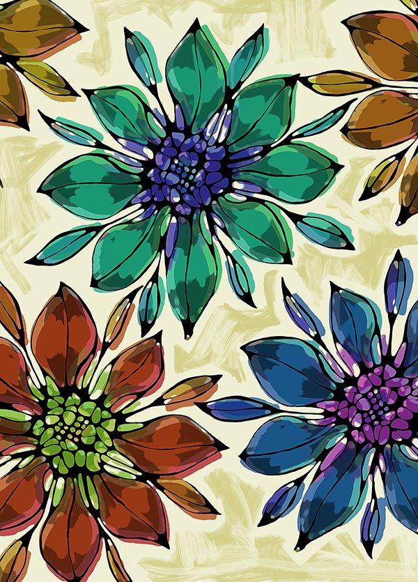 Dessin floral dans 2D dessin flors1