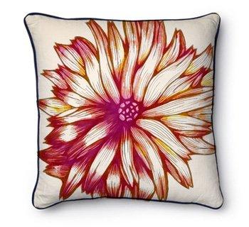 Coussins imprimés avec motif floral. Textile design dans 2D dessin cushion1