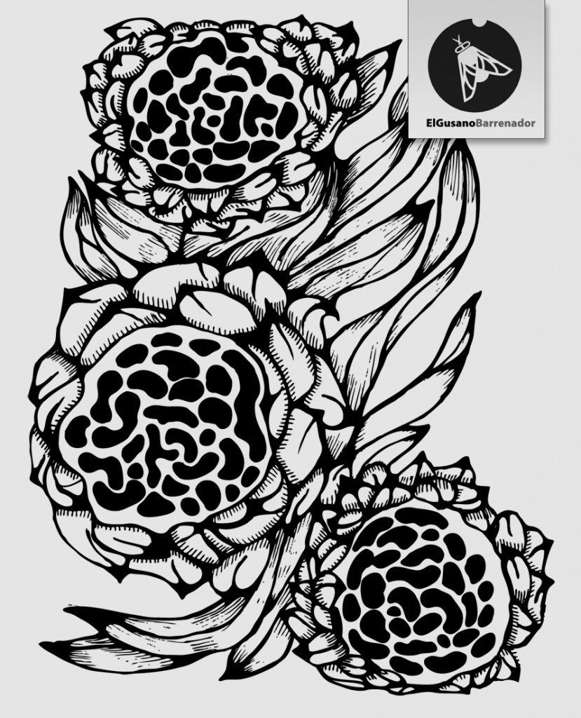 Motif répétitif avec des fleurss dans design textile pattern