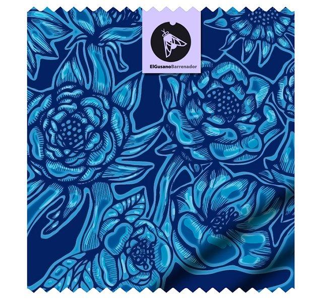 Estampillé floral. Dessin Textile dans 2D dessin floral