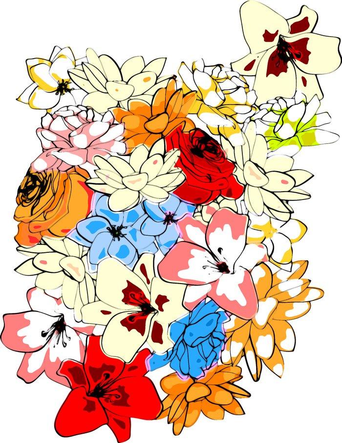 Imprimé intégral floral flowered2